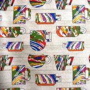 Berty, színes csészés lakástextil, dekorvászon