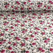 Andrea bordó kis rózsás lakástextil, dekorvászon