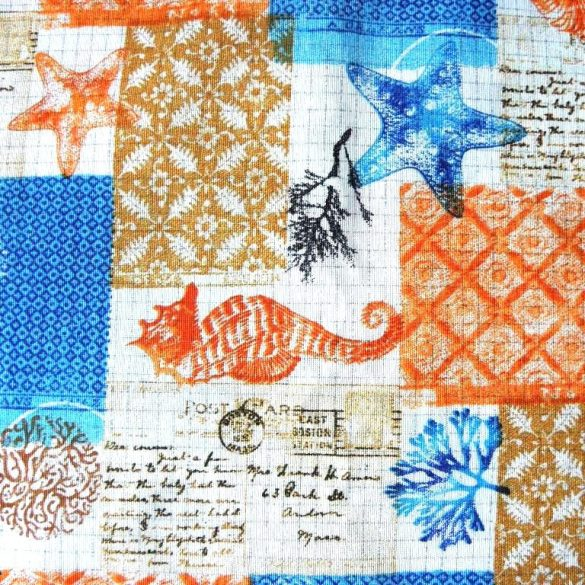 Lakástextil, dekorvászon, óceán, tenger