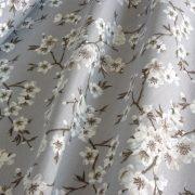 MULAN, cseresznyevirág mintás lakástextil, dekorvászon - szürke
