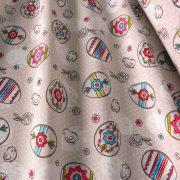 PASCAL, húsvéti, tojás mintás drapp lakástextil dekorvászon