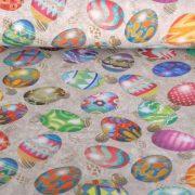 NYUSZITOJÁS, húsvéti tojás mintás lakástextil dekorvászon