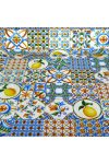 TEGOLO, citromos, mozaikcsempe mintás lakástextil, dekorvászon