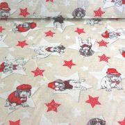 STAR DOGS, kutya, csillag mintás lakástextil, dekorvászon