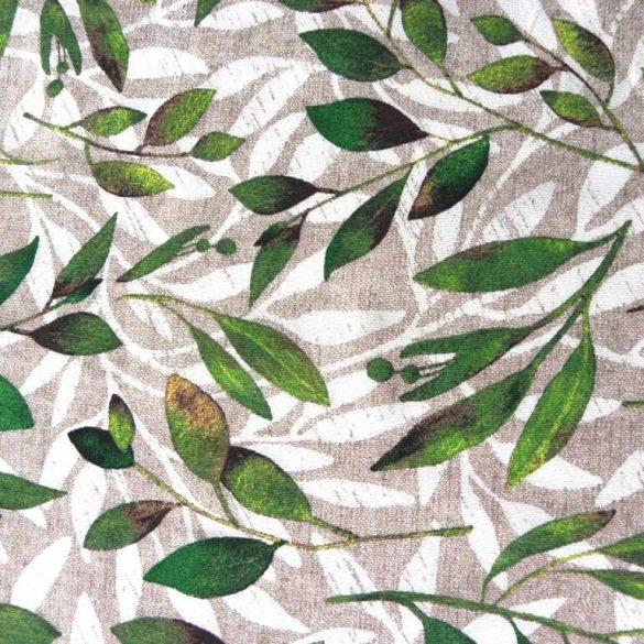 BABÉR, leveles lakástextil, dekorvászon, bézs