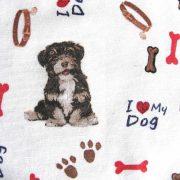 I LOVE MY DOG, kutyás lakástextil, dekorvászon