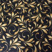 SEFORA. fekete-arany nagy indamintás lakástextil, dekorvászon