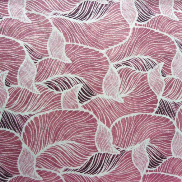 ROSZTA, leveles mintás lakástextil dekorvászon, fuxia
