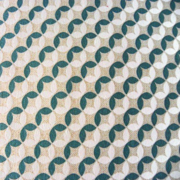 MIRA, geometrikus mintás lakástextil dekorvászon, jade
