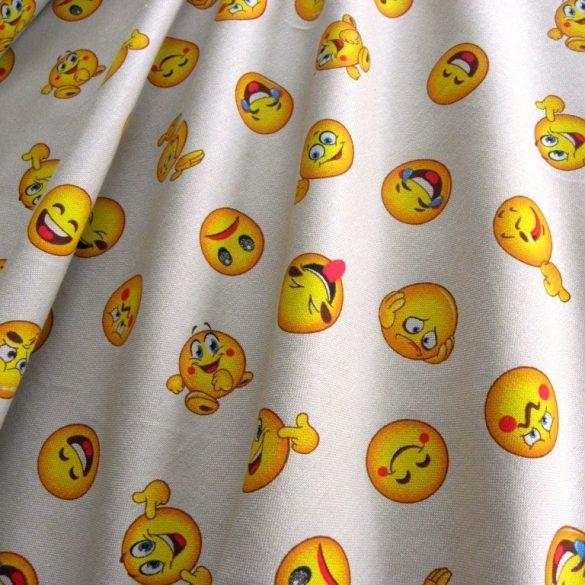 SMILEY mintás, extra lakástextil, dekorvászon