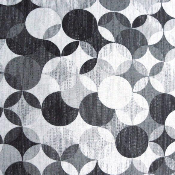 RONDO, geometrikus, körmintás lakástextil, dekorvászon, onix