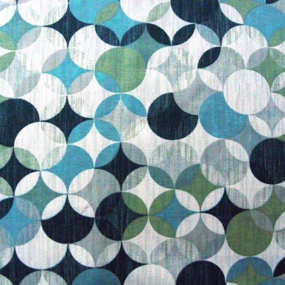 RONDO, geometrikus, körmintás lakástextil, dekorvászon, jáde