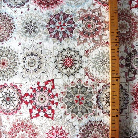 MALU, mandala mintás lakástextil, dekorvászon - rubin