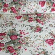 ANDREA bordó rózsás lakástextil, dekorvászon