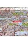 LONDON MAP mintás, extra minőségű lakástextil 140 cm szélességben
