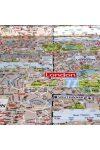 LONDON MAP mintás, extra minőségű lakástextil - maradék darab: 0,93 m