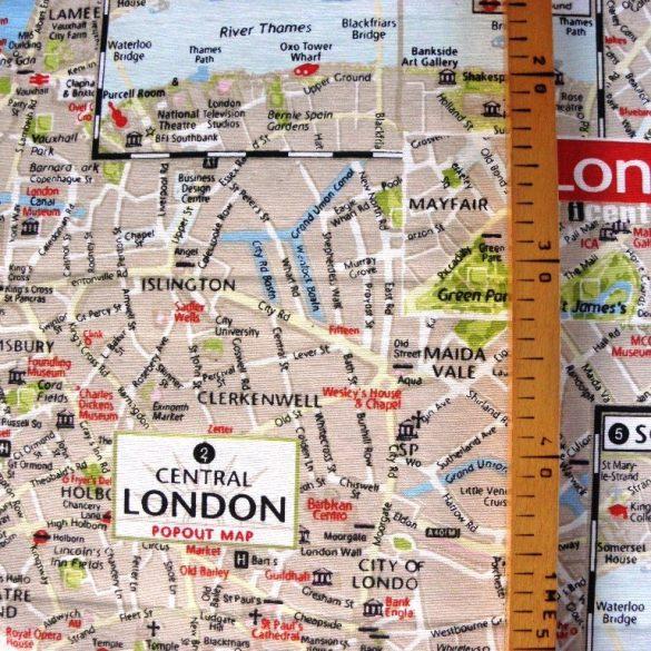LONDON MAP  mintás, extra minőségű lakástextil
