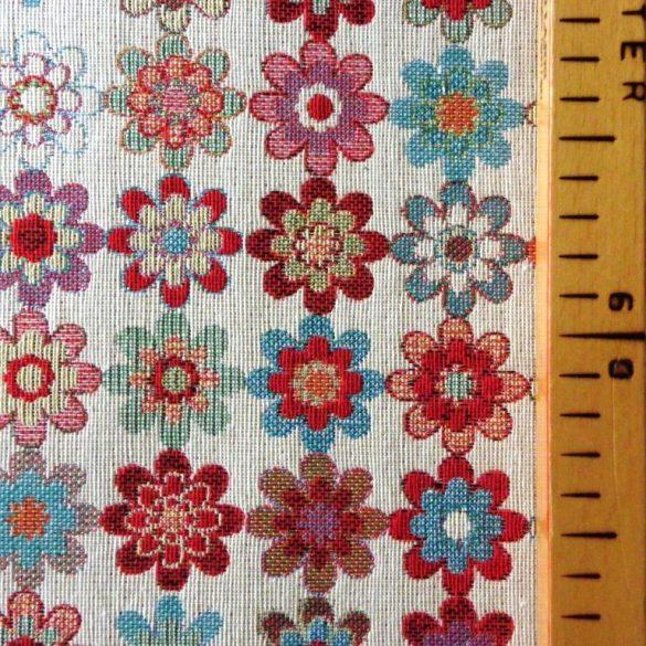 FLOWER, virág mintás, jacquardszövött, prémium minőségű spanyol lakástextil