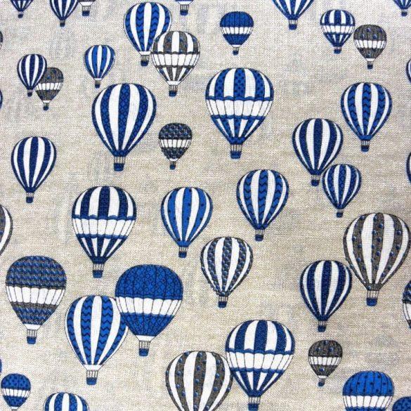 LÉGHAJÓ mintás lakástextil, dekorvászon, kék - 280 cm és 140 cm szélességben