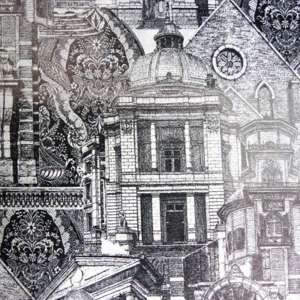 ARQUI, régi épületek, extra minőségű lakástextil 140 cm és 280 cm szélességben