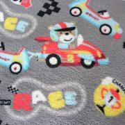 RACE, macis, autós, egyoldalas wellsoft méteráru - szürke