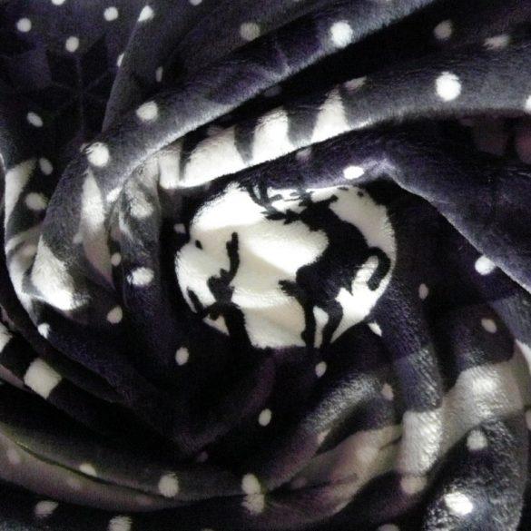 NORDPOL, szarvasos, szürke-fekete, egyoldalas wellsoft méteráru