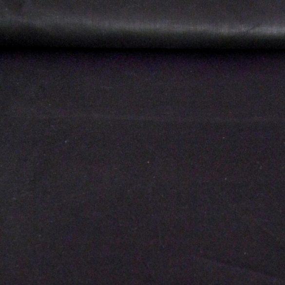 Uni, egyszínű pamutvászon, 160 cm széles, fekete - maradék darab: 0,95 m