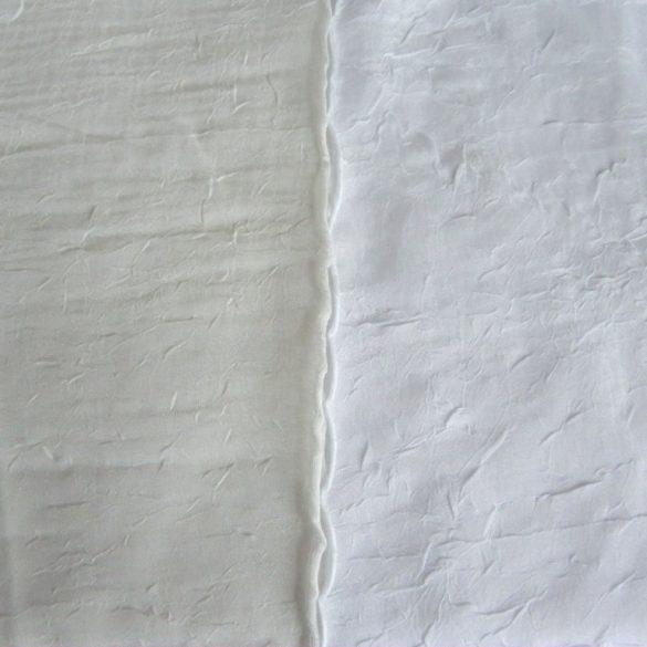Gyűrt voile függöny anyag méteráru, fehér 290 cm magas