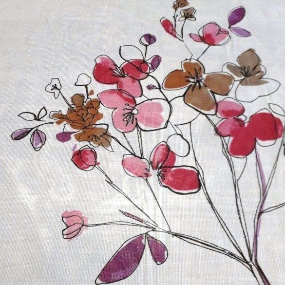 MAGNOLIA, sablé fényáteresztő függöny anyag, lila-pink-bézs