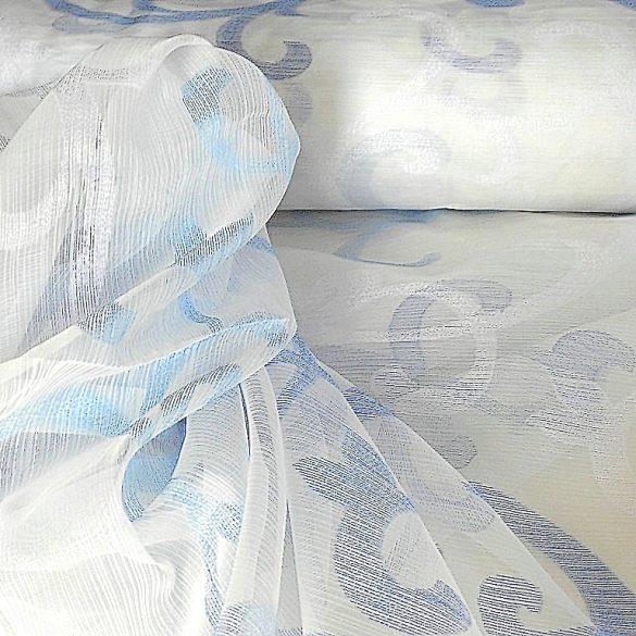 JOHANNA, félorganza-sablé fényáteresztő függöny anyag, kék mintás