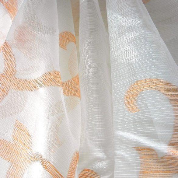 JOHANNA, félorganza-sablé fényáteresztő függöny anyag, narancs mintás
