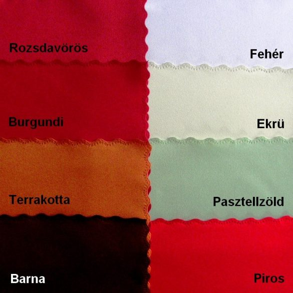 AURORA, minta nélküli, egyszínű, teflonos abroszanyag méteráru, készleten lévő
