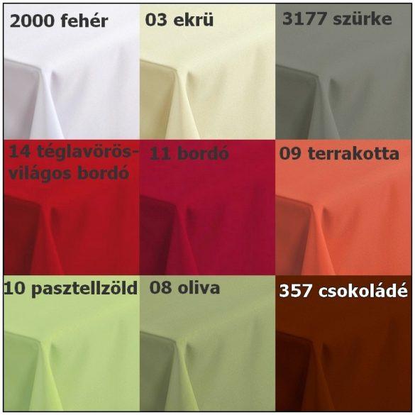 AURORA, minta nélküli, egyszínű, teflonos abroszanyag méteráru, előrendelhető