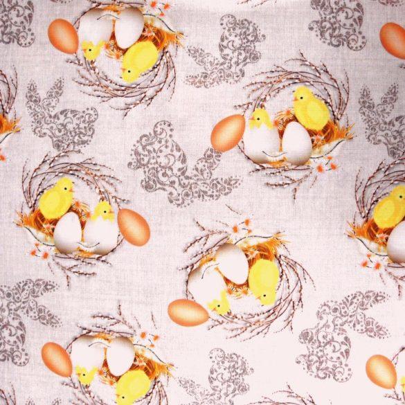 CSIBI, húsvéti mintás, teflonos abroszanyag, dekorációs textil