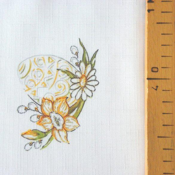 HÍMESTOJÁS, húsvéti mintás, teflonos abroszanyag, dekorációs textil