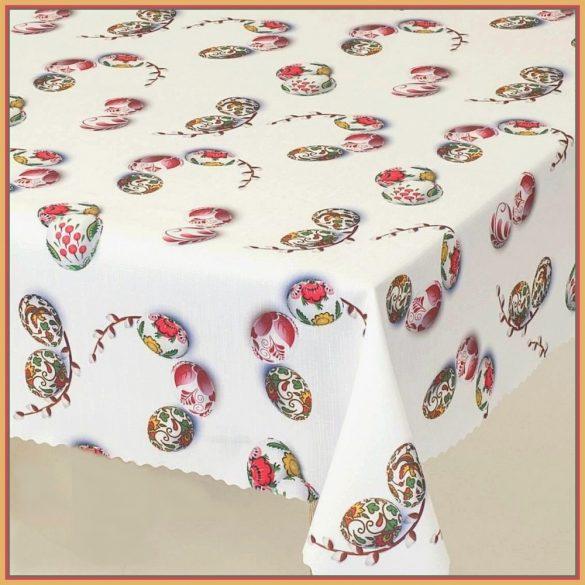 BARKA, húsvéti mintás, teflonos abroszanyag, dekorációs textil