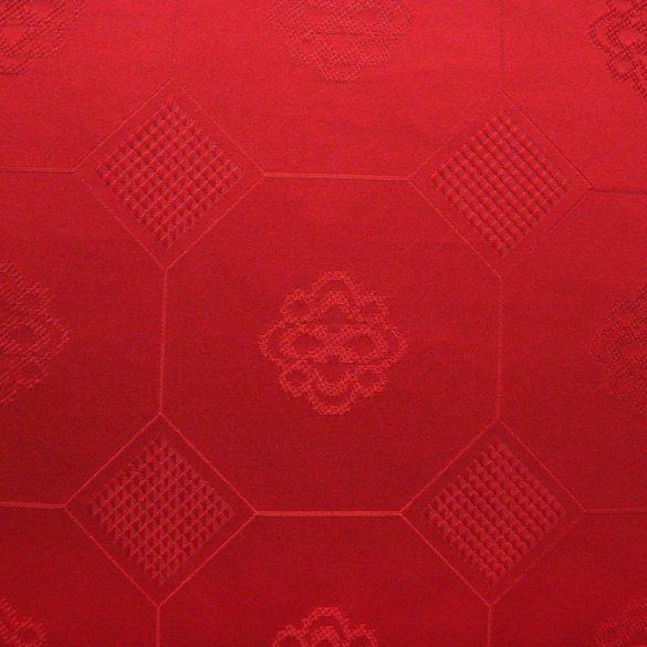LÍRA, piros, azsúrmintás teflonos abroszanyag