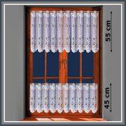 Szitakötő mintás, fehér vitrázs függöny