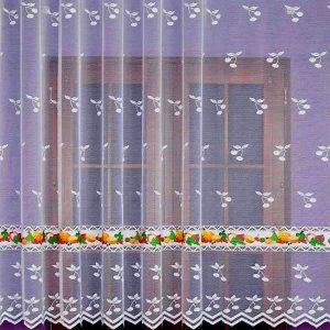 CHERRY, gyümölcs, cseresznye mintás jacquard konyhai függöny anyag