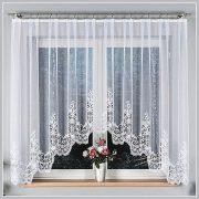 MILENA, alul csipkés fehér jacquard panoráma függöny