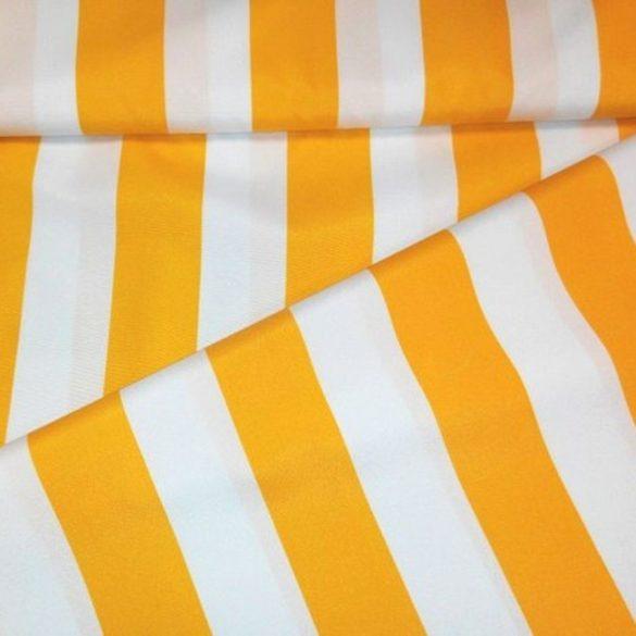 SOL, sárga csíkos UV álló, impregnált kültéri vászon, napernyővászon - maradék darab: 1,0 m
