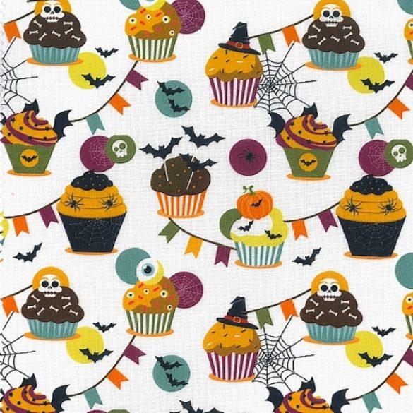 MUFFIN, Halloween mintás prémium pamutvászon