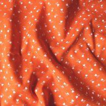 Apró fehér tulipános pamut vászon, narancs