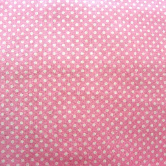 Rózsaszín sűrű aprópöttyös extra pamutvászon