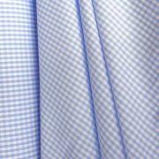 GRID, kiskockás zefír, tarkánszőtt pamutvászon, kék