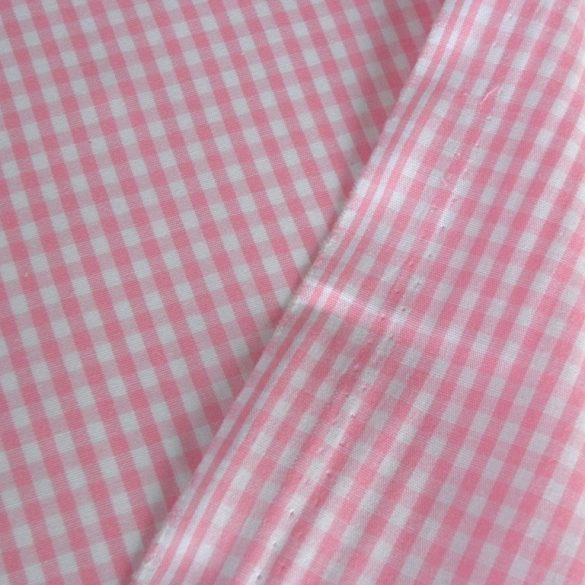 GRID, kiskockás zefír, tarkánszőtt pamutvászon, rózsaszín