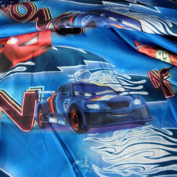 VERDÁK, NEON mintás kék dekor függöny méteráru - maradék darabok