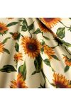 GIRASOL, napraforgó mintás lakástextil dekorvászon, krémsárga alapon