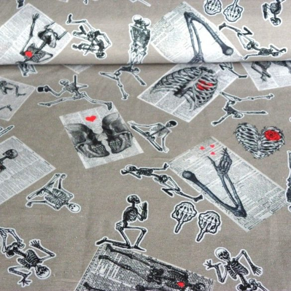 CSONTVÁZAK mintás lakástextil dekorvászon