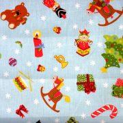 SCORY, csillagos karácsonyi mintás pamutvászon